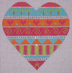 "CH107G TP-Palm Tree Heart 4"" EyeCandy Needleart"