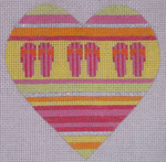 "CH201C TP-Flip Fliop Heart 4 "" EyeCandy Needleart"