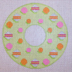 "CH202B TP-Dotted Wreath 4"" Diameter EyeCandy Needleart"