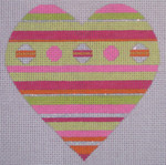 "CH202C TP-Dotted Heart 4"" EyeCandy Needleart"