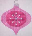"CH116A AC- Pink Star Bauble  4"" EyeCandy Needleart"