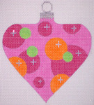 "CH116B  AC- Pink Bubble Bauble 4"" EyeCandy Needleart"