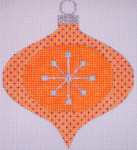 "CH117A AC- Orange Star Bauble 4"" EyeCandy Needleart"