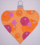 "CH117B AC- Orange Bubble Bauble 4"" EyeCandy Needleart"