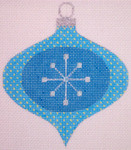 "CH118A AC- Blue Star Bauble 4"" EyeCandy Needleart"