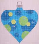 "CH118B AC- Blue Bubble Bauble 4""  EyeCandy Needleart"