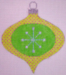 "CH119A AC- Green Star Bauble  4""EyeCandy Needleart"