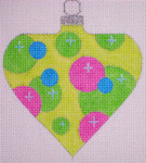"CH119B AC- Green Bubble Bauble 4"" EyeCandy Needleart"