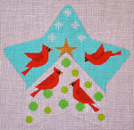 "CH122B Cardinals Star 5.5"" EyeCandy Needleart"