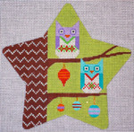 "CH122C Owls Star 5.5"" EyeCandy Needleart"
