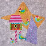 "CH122D Birds Star 5.5"" EyeCandy Needleart"