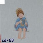 "CBK Bettieray Designs CD-63 Angel With Harp 18 Mesh CD-63 Angel with Harp 18 Mesh 3 x 5.5"""