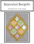 BB11 Bejeweled Bargello Chart 11 EyeCandy Needleart  Shown Finished