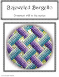 BB13 Bejeweled Bargello Chart 13 EyeCandy Needleart  Shown Finished