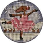 "1022q Pink ballerina  4"" 18 Mesh Rebecca Wood Designs"
