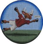 "1022v Frisbee reindeer 4"" 18 Mesh Rebecca Wood Designs"