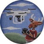 """1022z Drone reindeer 4"""" 18 Mesh Rebecca Wood Designs"""