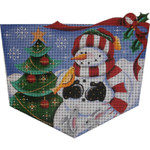 1462c Forest Snowman 8 x 11 18 Mesh Rebecca Wood Designs
