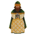 015f Green magi  Mini 2 to 3 Inches 18 Mesh Rebecca Wood Designs