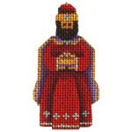 015e Red magi 2 to 3 Inches 18 Mesh Rebecca Wood Designs