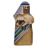 015n Mini Shepherd & lamb 2 to 3 Inches 18 Mesh Rebecca Wood Designs