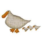 019i Ducks Mini 18 Mesh Rebecca Wood Designs