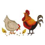 015p Chickens Mini 18 Mesh Rebecca Wood Designs 2 to 3 Inches