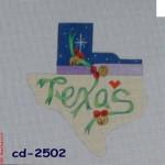 CBK Bettieray Designs CD-2502 Christmas Bells Texas Shape
