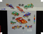 CC-08 Race Cars 18 Mesh Child's Director Chair Seat Bettieray Designs
