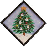 50c Snowman tree 10 x 10 13 Mesh Rebecca Wood Designs