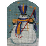 95m Band leader snowman 5 x 3.5 18 Mesh Rebecca Wood Designs