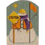 95L Const. snowman 5 x 3.5 18 Mesh Rebecca Wood Designs