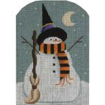 95f Halloween Snowman 5 x 3.5 18 Mesh Rebecca Wood Designs