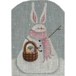 95d Easter Snowman   5 x 3.5 18 Mesh Rebecca Wood Designs