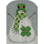 95c Clover Snowman 5 x 3.5 18 Mesh Rebecca Wood Designs