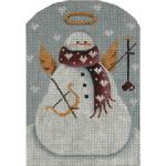 95b Valentine Snowman 5 x 3.5 18 Mesh Rebecca Wood Designs