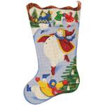 362 Skating Snowman 11 x 19 18 Mesh Rebecca Wood Designs