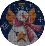 "1024g 4""rnd Snowman angel 18 Mesh Rebecca Wood Designs"