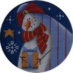 "1024e 4""rnd Snowman magi 3 18 Mesh Rebecca Wood Designs"