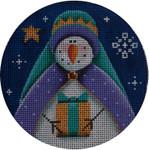 """1024d 4""""rnd Snowman magi 2 18 Mesh Rebecca Wood Designs"""