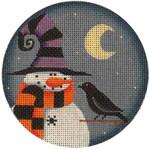 "1017j 4""rnd Oct. Snowman 18 Mesh Rebecca Wood Designs"