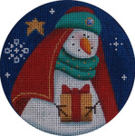 "1024c 4""rnd Snowman magi 1 18 Mesh Rebecca Wood Designs"