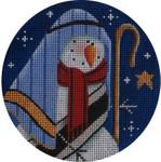 "1024b 4""rnd Snowman Joseph 18 Mesh Rebecca Wood Designs"