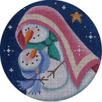 "1024a 4""rnd Snowman nativity 18 Mesh Rebecca Wood Designs"