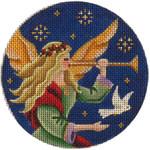 1007c 4 rnd Angel's dove 18 Mesh Rebecca Wood Designs