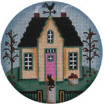 "1032i Fall cottage 4"" 18 Mesh Rebecca Wood Designs"