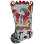 1365b 11,19 Snowman & penguins 13 Mesh Rebecca Wood Designs