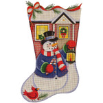 1331g 11/19 Snowman lantern 13 Mesh Rebecca Wood Designs