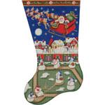 1339 11/19 Snowman baseball 18 Mesh Rebecca Wood Designs