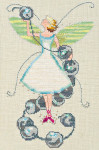 11-1192 Nora Corbett Stitching Fairies-Bead Fairy 83 x 138